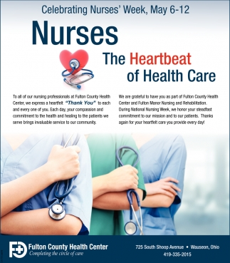 Celebrating Nurses' Week, May 6 -12
